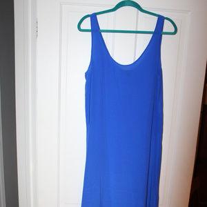 NWT Blue silk tank maxi dress J. Crew